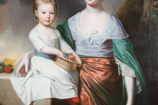 Mrs. Edward Salisbury and Daughter, by George Romney
