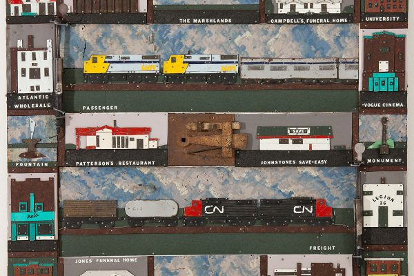 Trains in Sackville, by Eric Walker